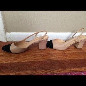99b5a64bbd Ivanka Trump Shoes - Ivanka Trump Liah Slingback heels latte/black